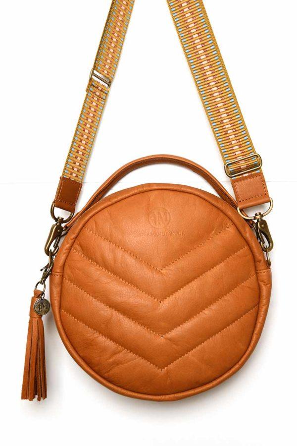 Lederkunst-Atelier_Crossbody Bag Sidney_Cognac
