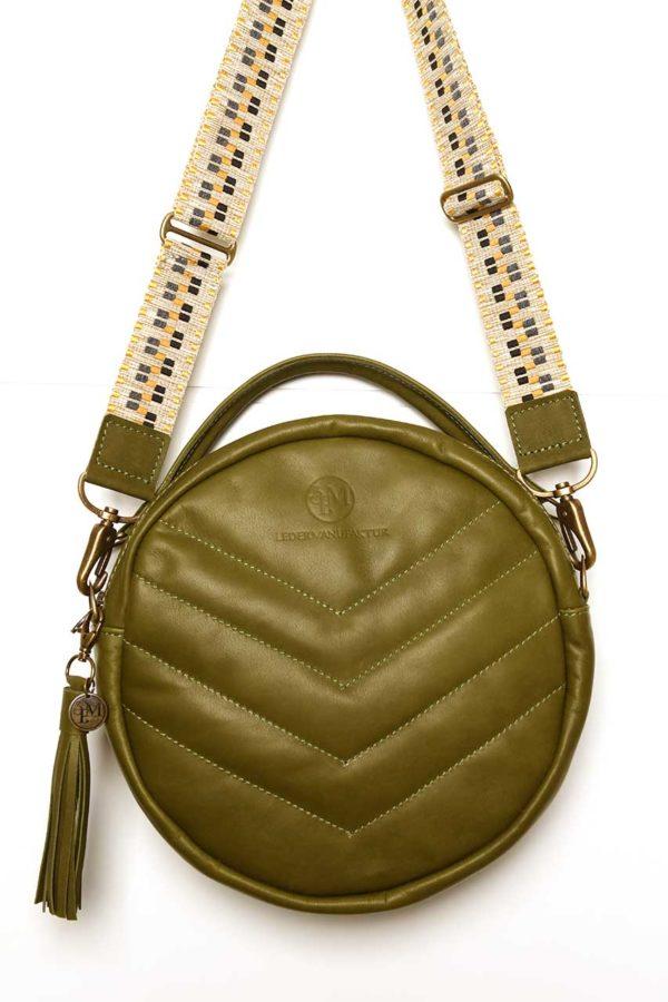 Lederkunst-Atelier_Crossbody Bag Sidney_Grün