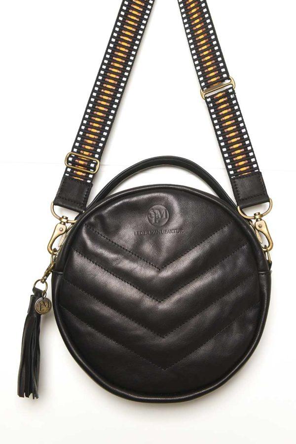 Lederkunst-Atelier_Crossbody Bag Sidney_Schwarz